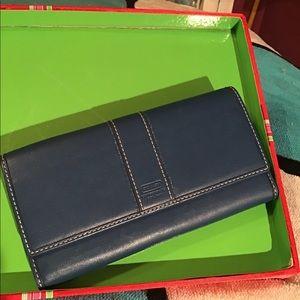 Coach Navy Fuchsia Wallet